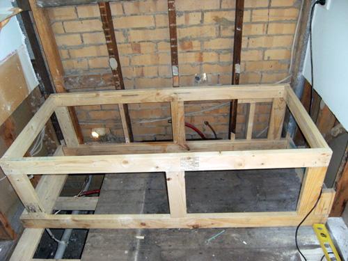 how to build a bath frame